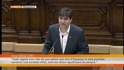 """Sergi Sabrià (ERC): """"La república serà integradora o no serà"""""""