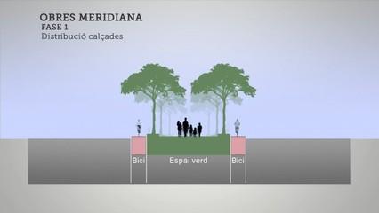 Comença la remodelació  d'un tram de la Meridiana