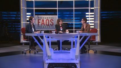 "Les diputades Montse Bassa (ERC) i Bel Pozueta (EH Bildu), al ""FAQS"""