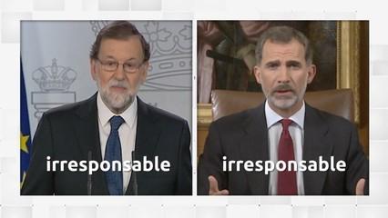 Comparativa del discurs de Rajoy i el rei
