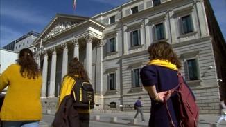 Els manifestants aprofiten per fer turisme per Madrid