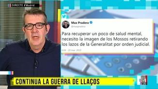 Max Pradera, cansat de la guerra dels llaços entre la Generalitat i la JEC