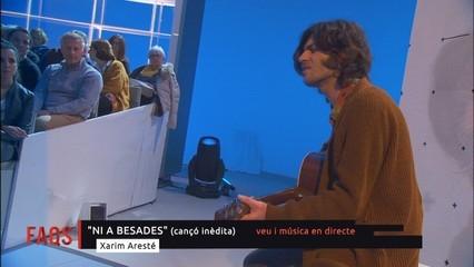 """Xarim Aresté interpreta """"Indomables"""" i """"Ni a besades"""""""
