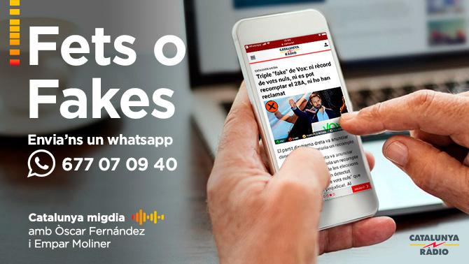 """""""Fets o Fakes"""", l'espai de fact-checking del """"Catalunya migdia"""""""