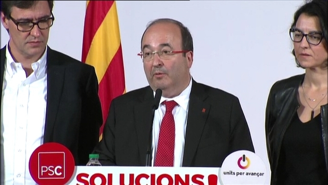 "Iceta demana a l'independentisme que descarti ""la via unilateral i il·legal"""