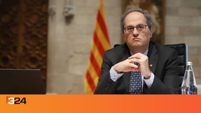 Torra, primer president de la Generalitat en actiu inhabilitat: un any i mig per no despenjar una pancarta