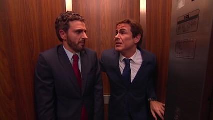 Polònia - Casado i Rivera a l'ascensor