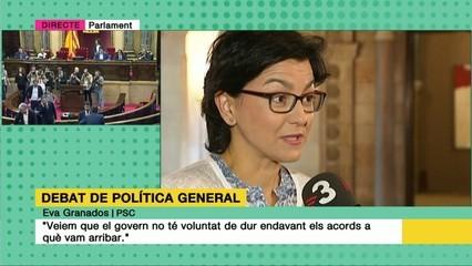"""Eva Granados: """"Veiem que el govern no té voluntat de tirar endavant els acords sobre pobresa a què vam arribar"""""""