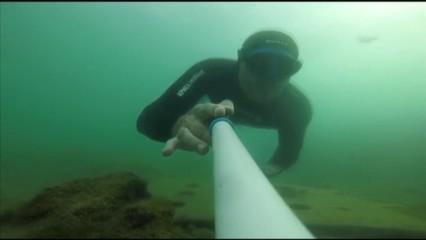 L'apneista Miguel Lozano torna a entrenar-se a la costa del Maresme