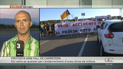 Quatre municipis protesten per l'endarreriment de les obres de millora de l'N-II