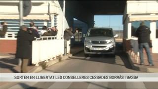 La sortida de presó de Meritxell Borràs i Dolors Bassa