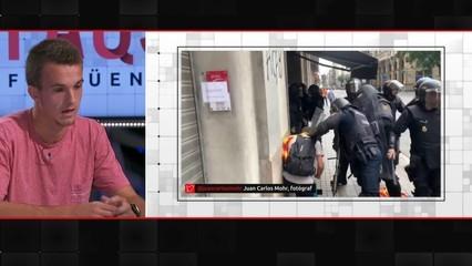 """Arnau Canal, el noi a qui la Policia Nacional va treure a empentes d'un bar de Via Laietana, al """"FAQS"""""""