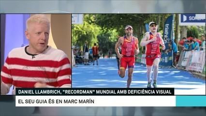 """Daniel Llambrich, """"recordman"""" mundial amb deficiència visual"""