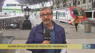 Avaria dels trens de Rodalies i regionals