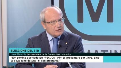 """José Montilla: """"No m'ho esperava. Pot demanar l'asil, si vol""""."""