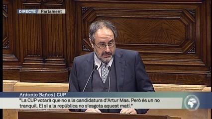 """Antonio Baños: """"La CUP votarà que no, però és un no tranquil"""""""