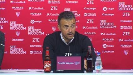 "Luis Enrique: ""Reforça molt guanyar a Sevilla"""