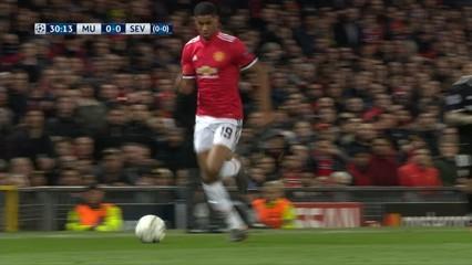 Manchester United, 1 - Sevilla, 2