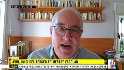 """Josep Bargalló: """"Si algú pensa que el més important és el temari o l'avaluació, s'equivoca. Ningú ha de fer temari"""""""
