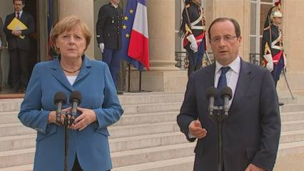 Merkel i Hollande intenten acostar posicions