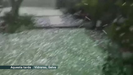 Pedregada a les comarques de Girona