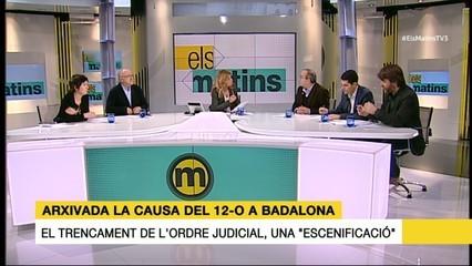 La taula del 31/01/17 sobre l'arxivament de la causa del 12-O a Badalona