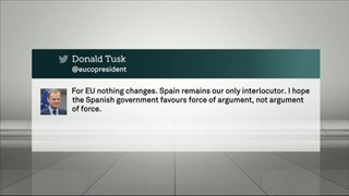 """Donald Tusk: """"Que el govern espanyol no utilitzi la força"""""""