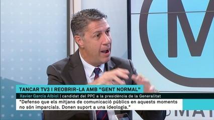 """Albiol: """"Algunes coses que passen a TV3 i a Catalunya Ràdio nosaltres no les compartim, no ens agraden i no ens semblen normals"""""""