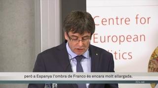 Puigdemont defensa un referèndum a tot Espanya en la conferència de Copenhaguen
