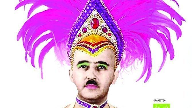 El Franco disfressat del cartell del Carnaval de Nou Barris es fa viral