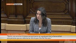 """Inés Arrimadas (Ciutadans): """"Vostè no vol recuperar el Parlament, vol tancar-lo."""""""