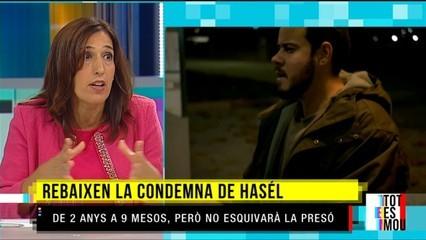 Rebaixen la condemna al músic Hasél però no esquivarà la presó