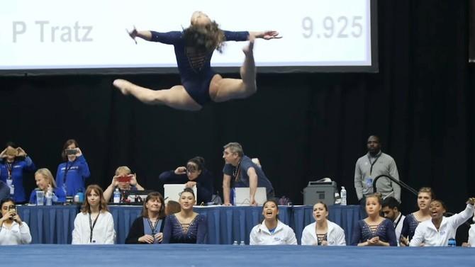 La gimnasta Katelyn Ohashi realitza un exercici de 10 que es converteix en viral a les xarxes