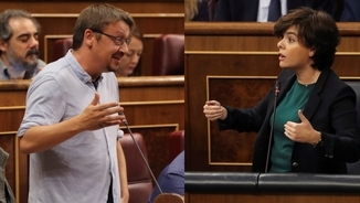 Picabaralla al Congrés entre Domènech i Sáenz de Santamaría arran del referèndum