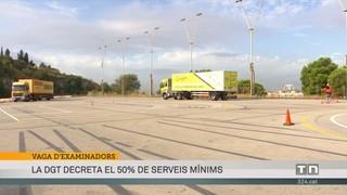 La DGT decretarà el 50% de serveis mínims per la vaga dels examinadors de trànsit