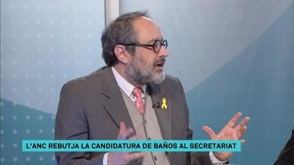 Antonio Baños explica per què l'ANC ha rebutjat la seva candidatura