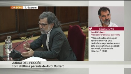 Últim torn de paraula de Jordi Cuixart