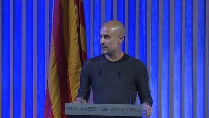 Josep Guardiola glossa la figura dels activistes Òscar Camps i Carola Rackete
