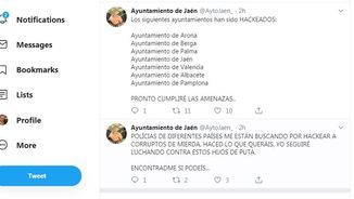 Tuits hackejats a Jaén