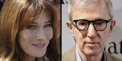 Carla Bruni i Woody Allen (Fotos: Reuters)