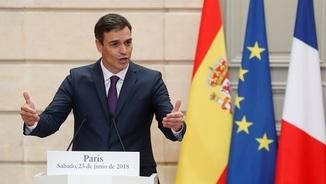 """Sánchez veu """"voluntat de normalitzar les relacions"""" en la imatge conjunta de Torra i el rei"""
