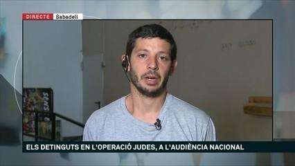 """Xavier Pellicer: """"Haurien declarat de matinada després d'hores d'aïllament i d'interrogatoris"""""""