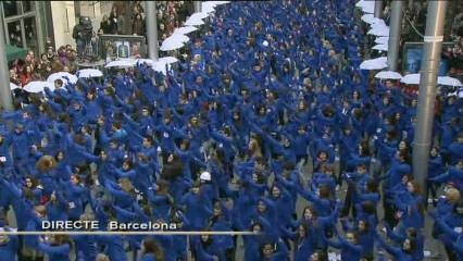 """Flashmob"" per ""La Marató"" de TV3"