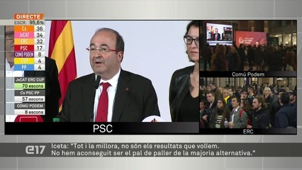 """Iceta (PSC): """"No hem aconseguir ser el pal de paller de la majoria alternativa"""""""