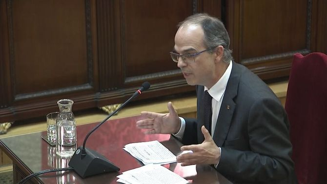 "Jordi Turull: ""I am here because I did not renounce my political activity"""