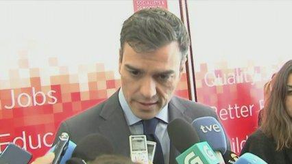 Declaracions de Pedro Sánchez i Xavier Domènech