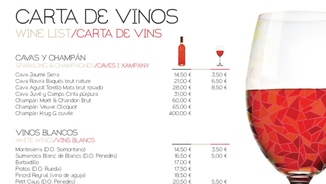 Restaurants i cartes de vins