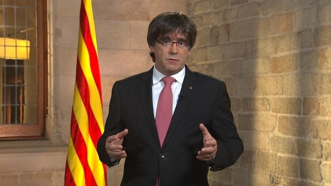 Puigdemont referma la legalitat de l'1-O en el missatge de la Diada