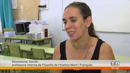 Acompanyem una professora que estrena interinatge en un institut de Tarragona