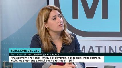 """Marta Pascal: """"Reeditar JxSí no és l'única opció, volem que l'independentisme guanyi per majoria absoluta"""""""